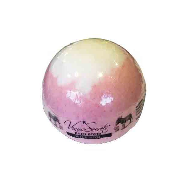 Bath & Spa Care Venus Secrets Donkey Milk Bath Bomb Wild Rose