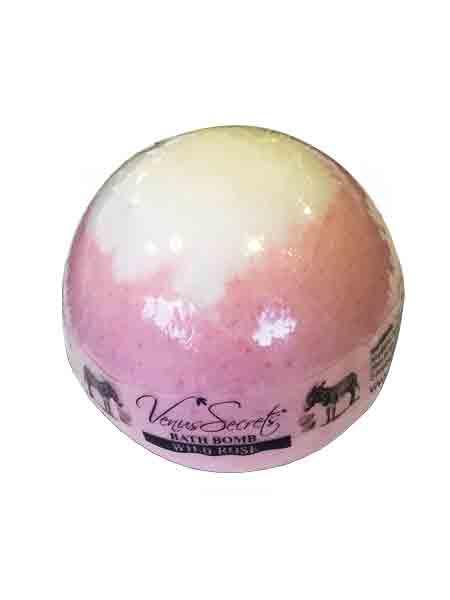 Bath Bomb Venus Secrets Γάλα Γαϊδούρας Bath Bomb Άγριο Ρόδο