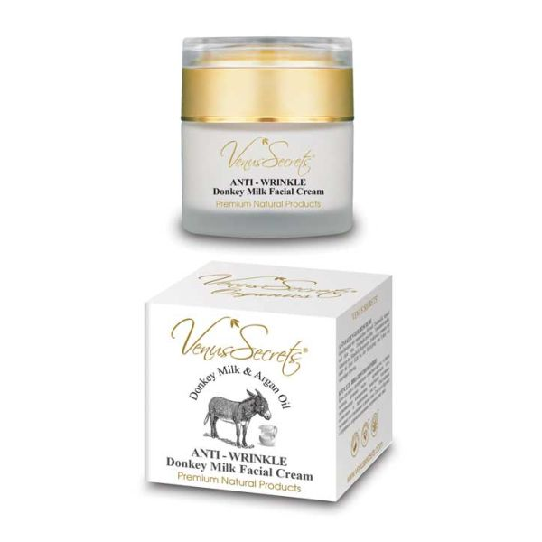 Anti-Wrinkle Cream Venus Secrets Donkey Milk Anti-Wrinkle Facial Cream