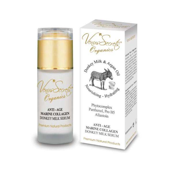 Face Care Venus Secrets Donkey Milk Anti Age Marine Collagen Serum