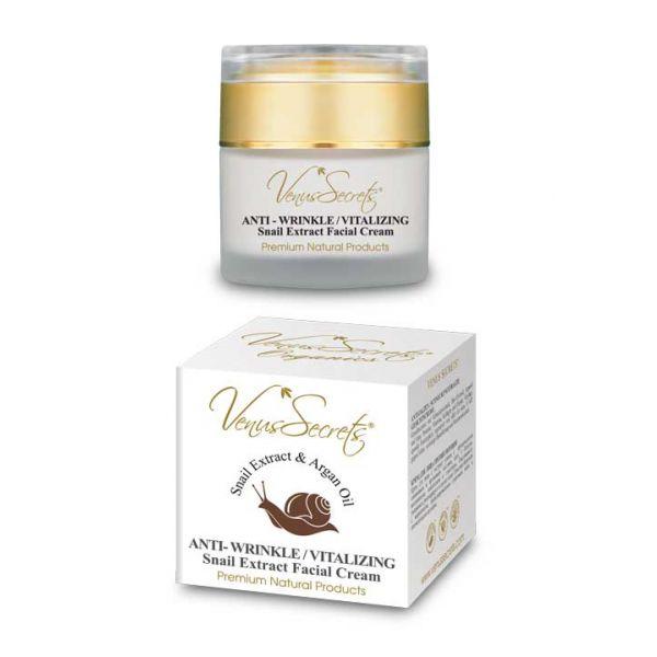 Anti-Wrinkle Cream Venus Secrets Snail Extract Anti Wrinkle Vitalizing Face Cream