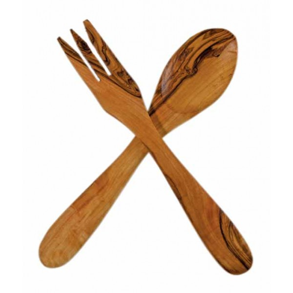 Accessories The Olive Tree Wooden Salad Set – 25 cm
