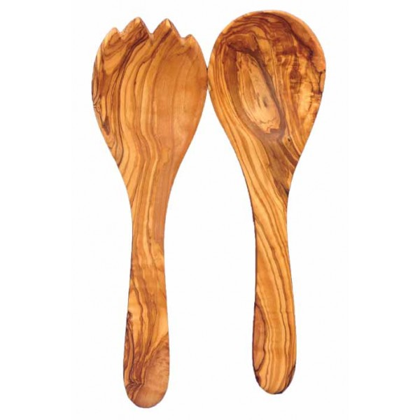 Accessories Wooden Salad Serving Set 27 cm / 10.6 in – The Olive Tree