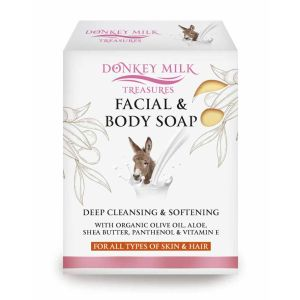 Σαπούνια Προσώπου Donkey Milk Treasures Facial, Body & Hair Soap