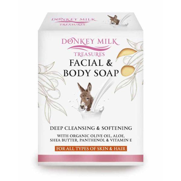 Facial Soap Donkey Milk Treasures Facial, Body & Hair Soap