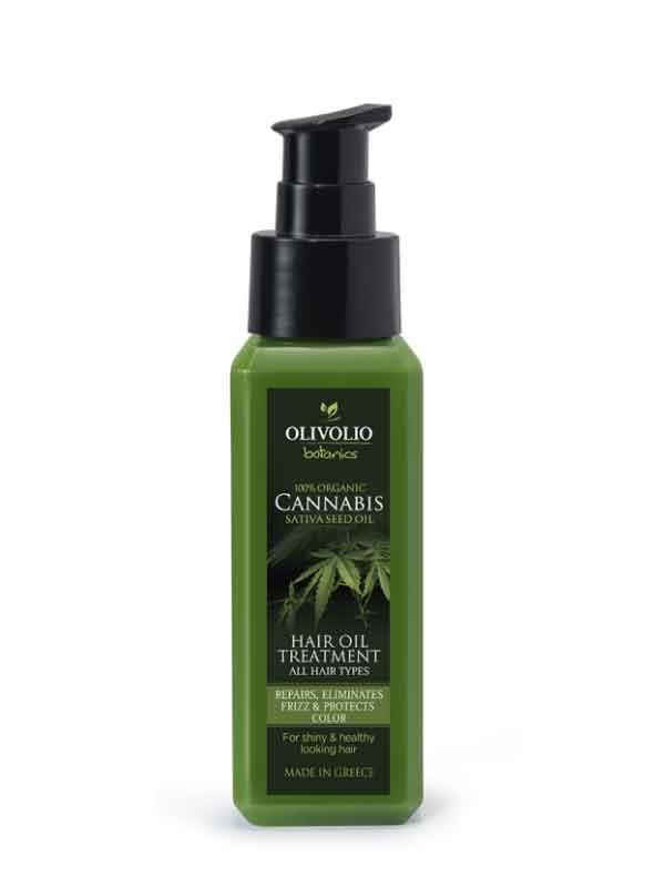 Λάδι Μαλλιών Olivolio Λάδι Κάνναβης – CBD  Θεραπεία για τα Μαλλιά