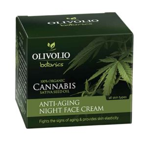 Face Care Olivolio Cannabis Oil – CBD Anti-Aging Night Face Cream