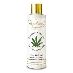 Face Care Venus Secrets Organics Cannabis Oil & Aloe Face Wash Gel