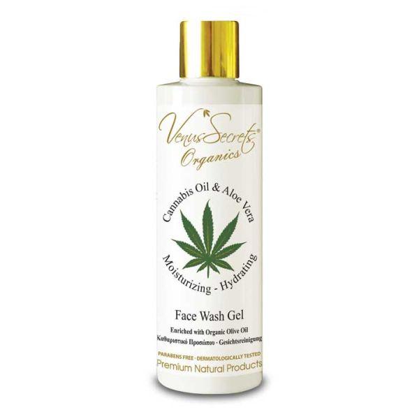 Face Care Venus Secrets Organics Cannabis Oil & Aloe Face Wash Gel