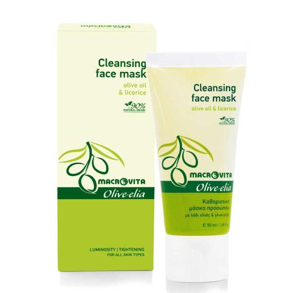 Μάσκα Προσώπου Macrovita Olivelia Καθαριστική Μάσκα Προσώπου