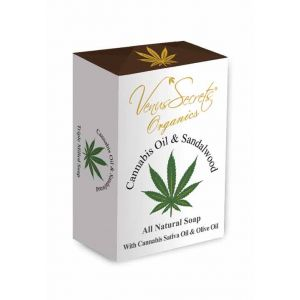 Regular Soap Venus Secrets Organics Cannabis Oil & Sandalwood Soap