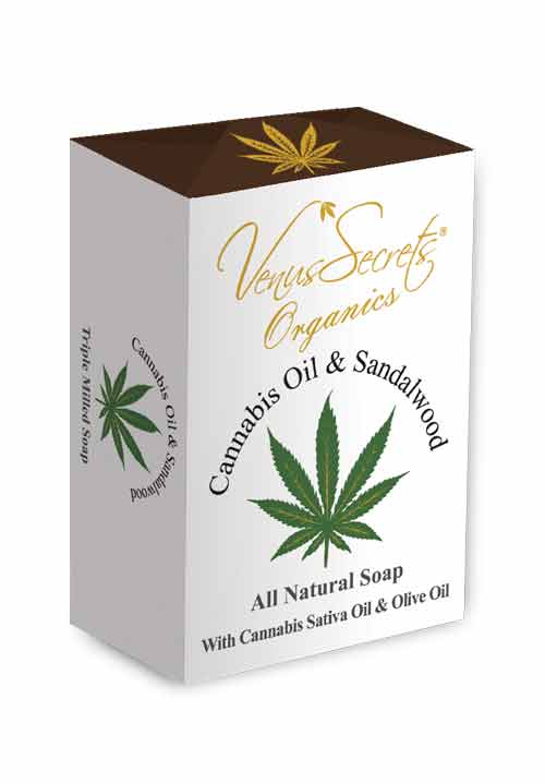 Regular Soap Venus Secrets Organics Cannabis Oil & Sandalwood Soap