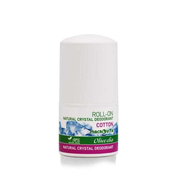 Αποσμητικό Macrovita Olivelia Φυσικός Κρύσταλλος Roll-on Cotton