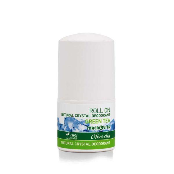 Αποσμητικό Macrovita Olivelia Φυσικός Κρύσταλλος Roll-on Green Tea