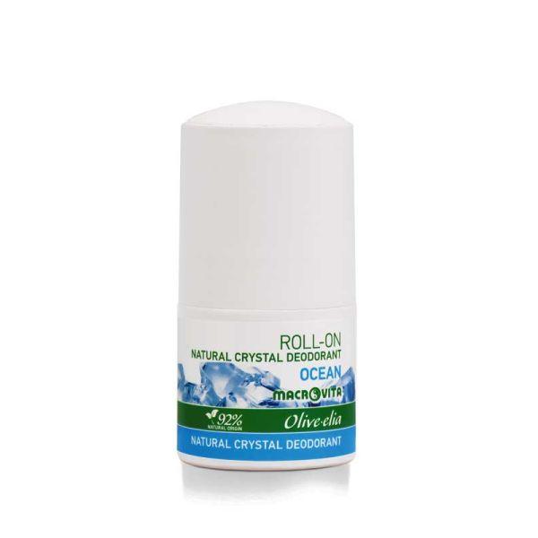 Αποσμητικό Macrovita Olivelia Φυσικός Κρύσταλλος Roll-on Ocean