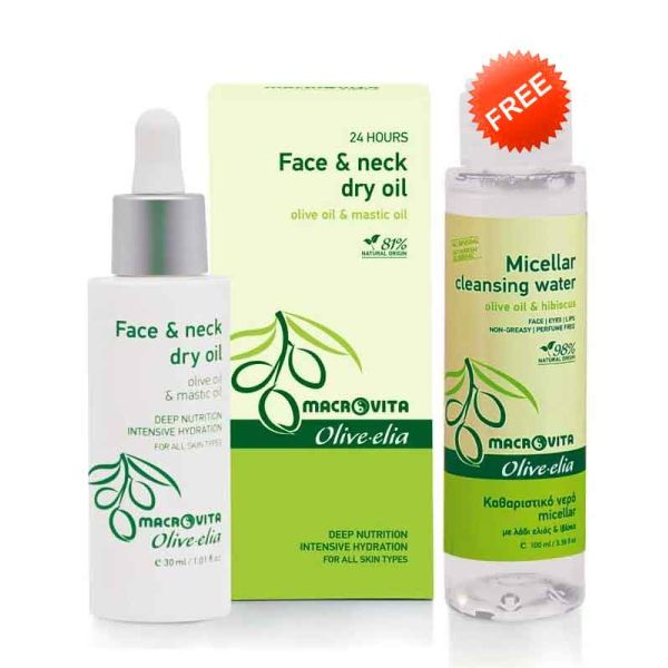 Face Care Macrovita Olivelia Face & Neck Dry Oil & FREE Micellar Cleansing Water (Full Size)