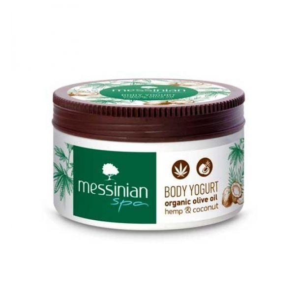 Κρέμα Χεριών Messinian Spa Body Yogurt Κάνναβη & Καρύδα
