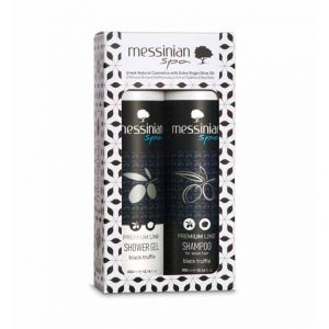 Αφρόλουτρο για Άνδρες Messinian Spa Μαύρη Τρούφα 2 – Pack Gift Set