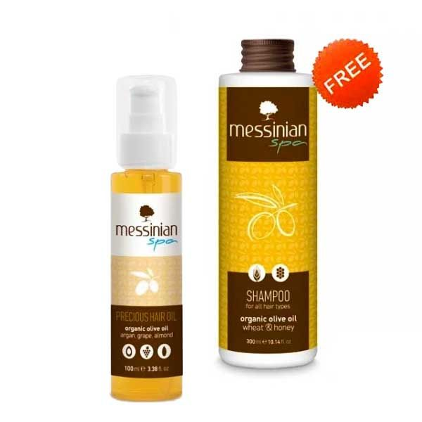 Hair Care Messinian Spa Precious Hair Oil FREE Shampoo All Types (Full Size)