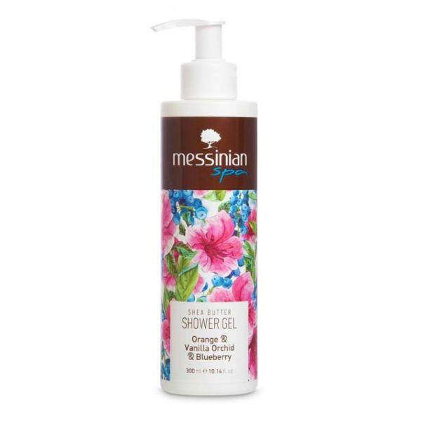 Body Care Messinian Spa Shower Gel Orange & Vanilla Orchid & Blueberry