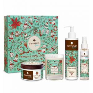 Body Butter Messinian Spa Christmas Joy Chai Latte Gift Box + Gift Scented Candle