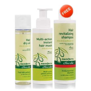 Hair Care Macrovita Olivelia Dry Hair Oil & Multi Hair Mask, FREE Revitalizing Shampoo (Full Size)