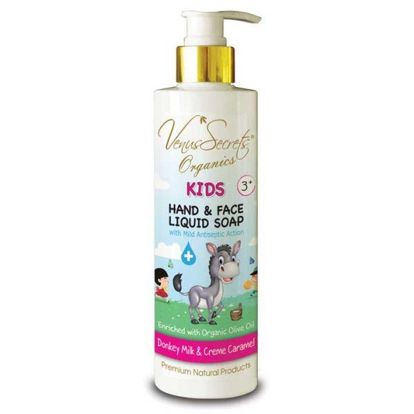 Babies & Kids Care Venus Secrets Kids Mild Antiseptic Liquid Soap Donkey Milk & Creme Caramel