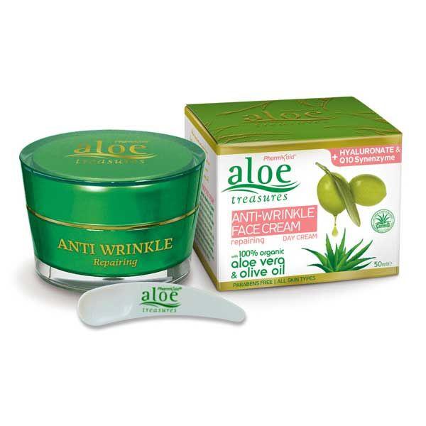 Anti-Wrinkle Cream Aloe Treasures Anti Wrinkle Day Face Cream Repairing