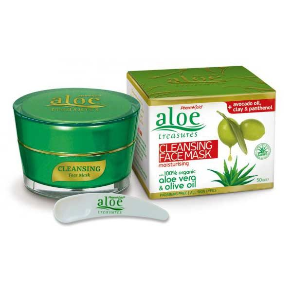 Face Care Aloe Treasures Face Mask Cleansing & Moisturizing