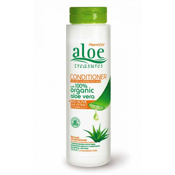 Μαλακτική Κρέμα Aloe Treasures Μαλακτική Κρέμα για Ξηρά & Κατεστραμμένα Μαλλιά