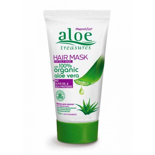 Μάσκα Μαλλιών Aloe Treasures Μάσκα για Λιπαρά Μαλλιά