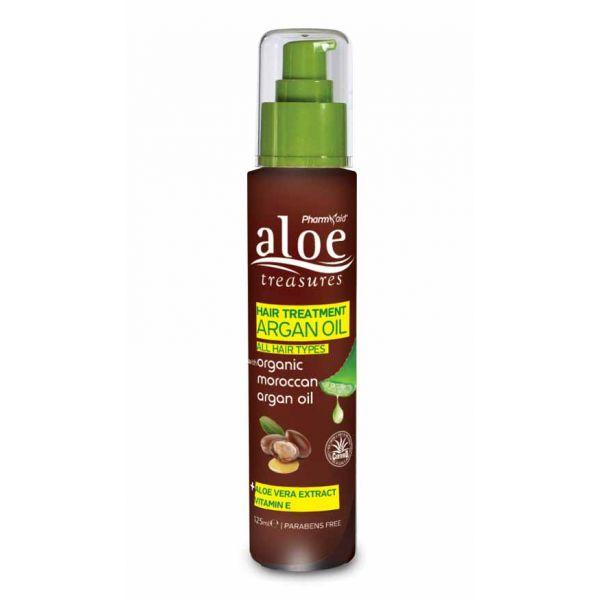 Λάδι Μαλλιών Aloe Treasures Θεραπευτικό Έλαιο Αργκάν για Όλους τους Τυπους Μαλλιών