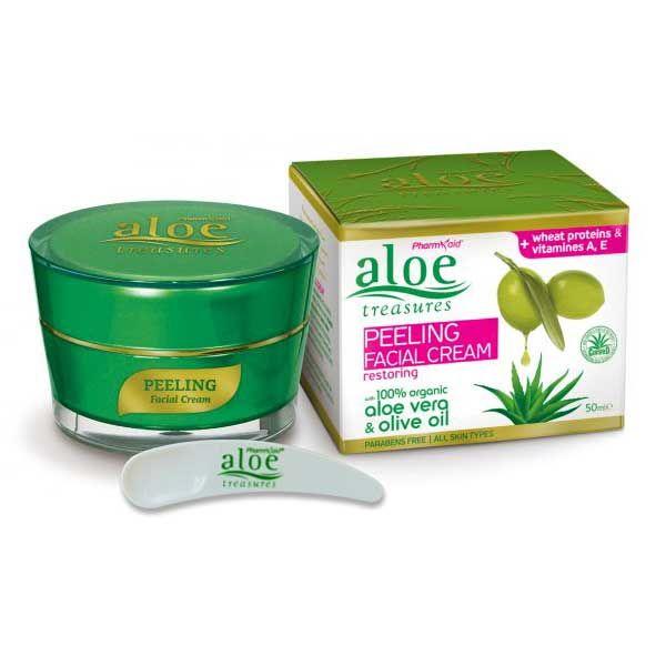 Exfoliators & Peels Aloe Treasures Peeling Face Cream Restoring