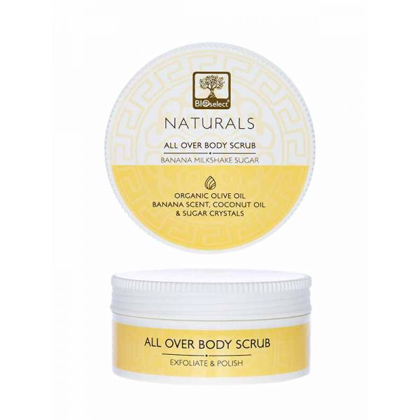 Body Care Bioselect Naturals All Over Body Sugar Scrub Banana Milkshake
