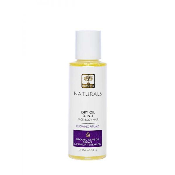 Body Care Bioselect Naturals Dry Oil 3 in 1 Face Body Hair Glowing Velvet