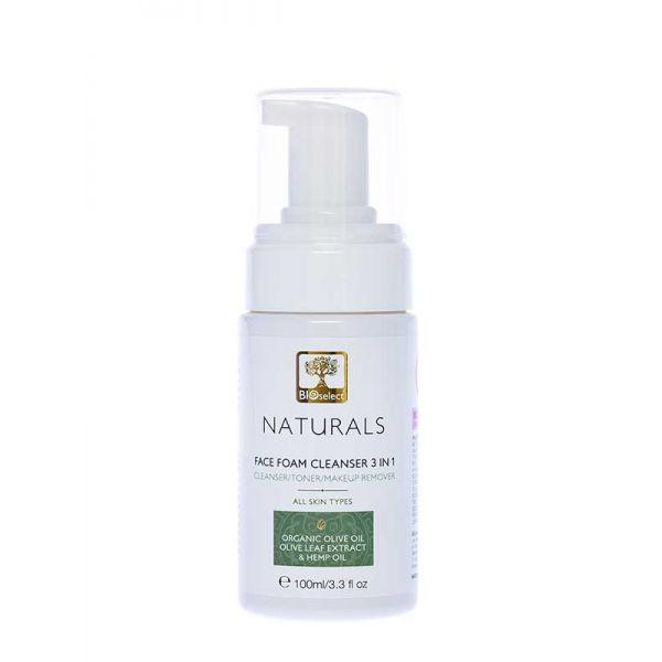Καθαρισμός Προσώπου Bioselect Naturals Αφρός Καθαρισμού Προσώπου 3 σε 1