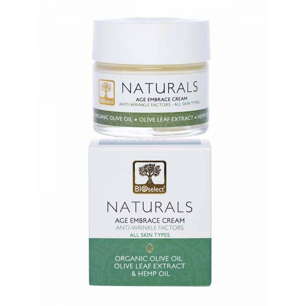 Anti-Wrinkle Cream Bioselect Naturals Age Embrace Cream for Face & Neck with Anti-Wrinkle Factors
