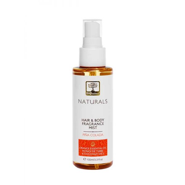 Body Mist Bioselect Naturals Αρωματικό Body Mist για Μαλλιά & Σώμα Pina Colada