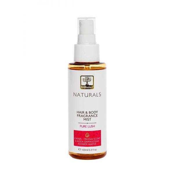 Body Mist Bioselect Naturals Αρωματικό Body Mist για Μαλλιά & Σώμα Pure Lush