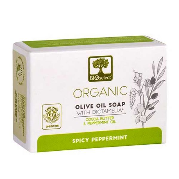 Facial Soap Bioselect Organic Olive Oil Soap Spicy Peppermint