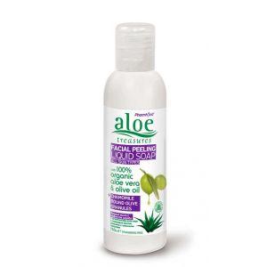Exfoliators & Peels Aloe Treasures Face Peeling Liquid Soap Chamomile