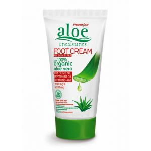 Foot Cream Aloe Treasures Foot Cream Olive Oil & Peppermint 120ml