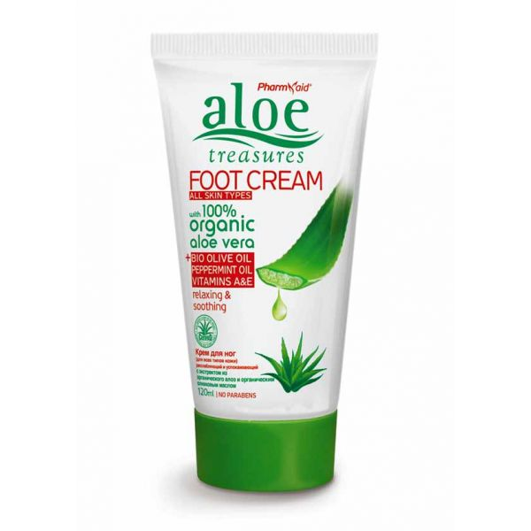 Foot Cream Aloe Treasures Foot Cream Olive Oil & Peppermint 120ml