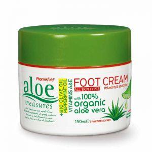 Kρέμα Ποδιών Aloe Treasures Κρέμα Ποδιών με Λάδι Ελιάς & Μέντα 150ml