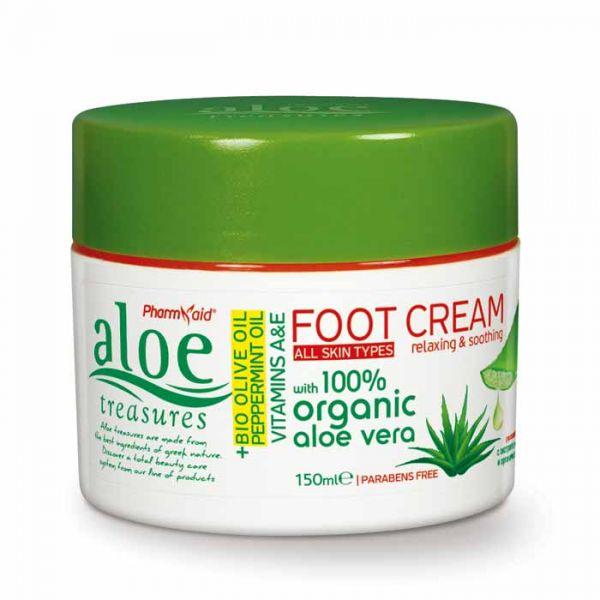 Foot Cream Aloe Treasures Foot Cream Olive Oil & Peppermint 150ml