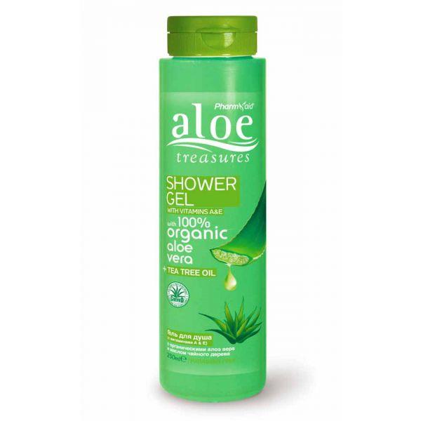 Body Care Aloe Treasures Shower Gel Tea Tree Oil