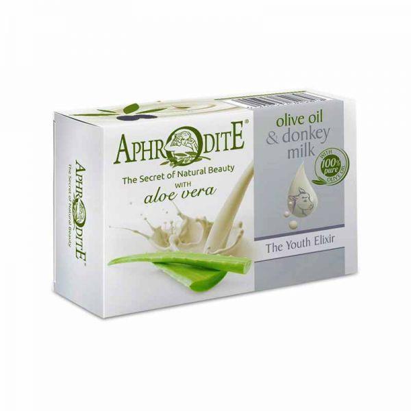 New Arrivals Aphrodite Olive Oil & Donkey Milk the Youth Elixir Soap Aloe vera