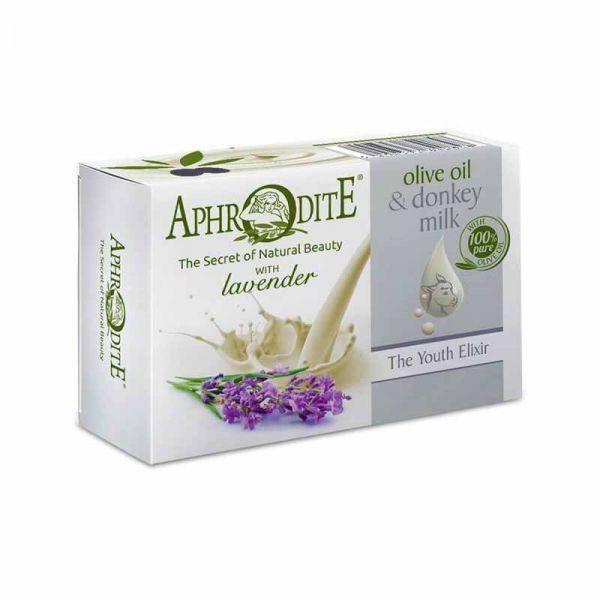 New Arrivals Aphrodite Olive Oil & Donkey Milk the Youth Elixir Soap Lavender