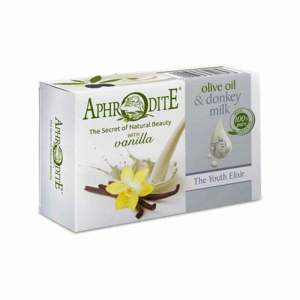 New Arrivals Aphrodite Olive Oil & Donkey Milk the Youth Elixir Soap Vanilla
