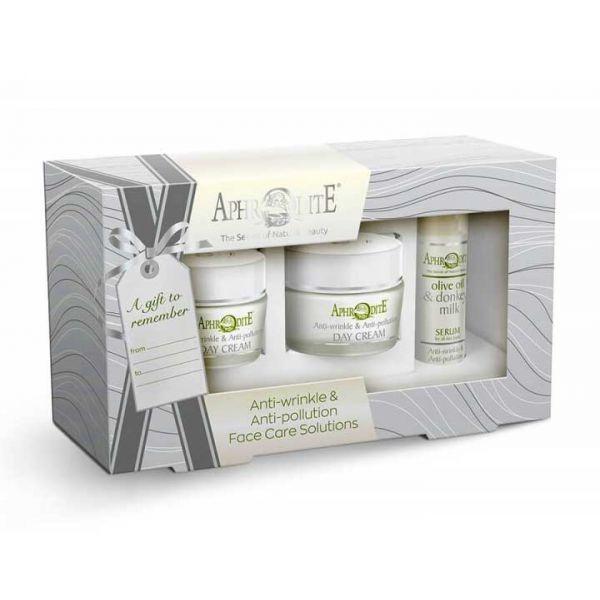 Anti-Wrinkle Cream Aphrodite Donkey Milk Face Care Anti-wrinkle & Antipollution Gift Set – Full Size